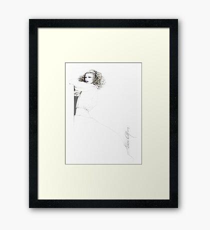 """Rebecca"" Oil on Canvas Framed Print"