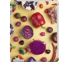 Red food on yellow iPad Case/Skin