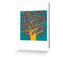 Keith Haring - Colorful tree Greeting Card