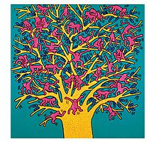 Keith Haring - Colorful tree Photographic Print