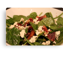 Spinach Salad with Blood Oranges and Blue Cheese Canvas Print