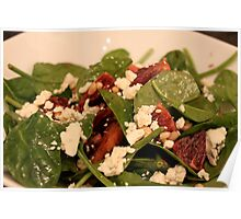 Spinach Salad with Blood Oranges and Blue Cheese Poster