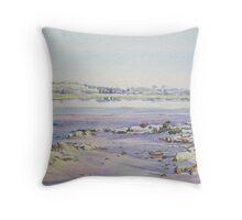 Salt on the Rocks - Dumbleyung Lake Throw Pillow