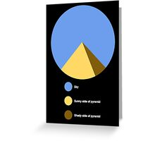 Pyramid Pie Chart Greeting Card