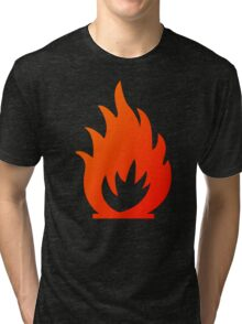 Flame Symbol by Chillee Wilson Tri-blend T-Shirt