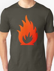 Flame Symbol by Chillee Wilson T-Shirt