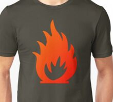 Flame Symbol by Chillee Wilson Unisex T-Shirt