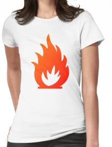 Flame Symbol by Chillee Wilson Womens Fitted T-Shirt