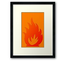 Flame Symbol by Chillee Wilson Framed Print