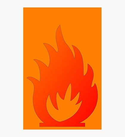 Flame Symbol by Chillee Wilson Photographic Print