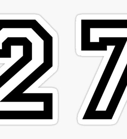 Twenty Seven Sticker