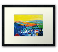 Saint-Flour France, lower town Framed Print