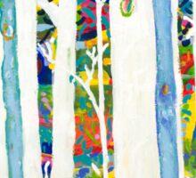 Blue trees Sticker