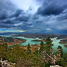 Panorama of Plastiras lake by Hercules Milas