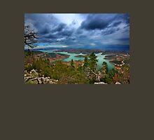 Panorama of Plastiras lake Unisex T-Shirt