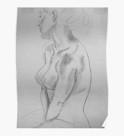 female nude ... pencil sketch # 5 Poster