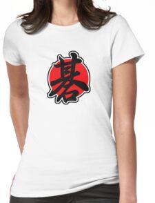 Go Japanese Kanji Womens Fitted T-Shirt