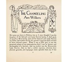 Mrs Leicester's School Charles & Mary Lamb with Minifred Green 18xx 0057 The Changeling Photographic Print