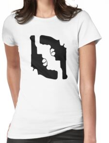 Handguns by Chillee Wilson Womens Fitted T-Shirt