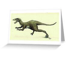 Jurassic Park Velociraptor On the Prowl Greeting Card