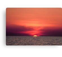 Akyaka - An Astronomical Sunset Canvas Print