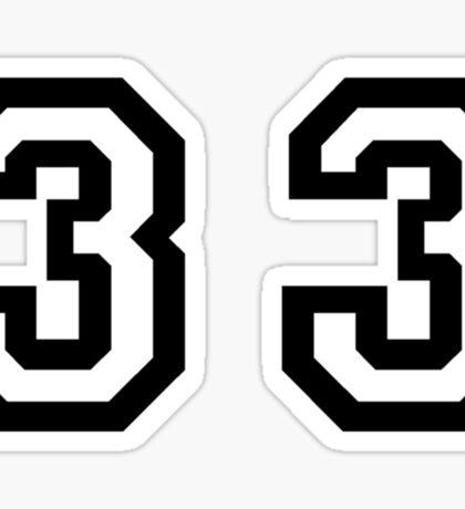 Thirty Three Sticker