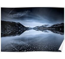 Ullswaters Reflections in Monochromatic Poster