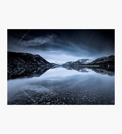 Ullswaters Reflections in Monochromatic Photographic Print