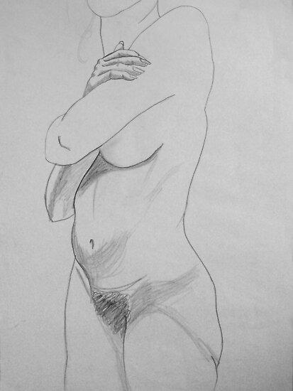 female nude ... pencil sketch # 6 by Juilee  Pryor
