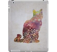 spotty cat iPad Case/Skin