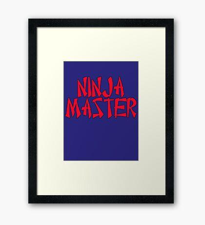 Ninja Master by Chillee Wilson Framed Print