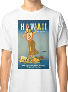 Hawaii Vintage Travel Poster Restored Classic T-Shirt