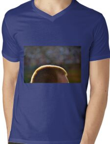 Backlit Buzz Cut Mens V-Neck T-Shirt
