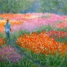 Walking among the the tulips by Julia Lesnichy