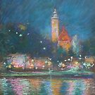 Saltzburg at night by Julia Lesnichy