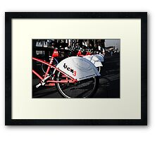 Cycle your life Framed Print