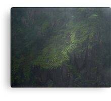 Gorge(ous) Walls throught the mist. Canvas Print