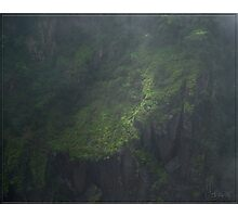 Gorge(ous) Walls throught the mist. Photographic Print