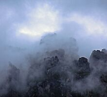 a mountain top in tasmania by mickdeblood