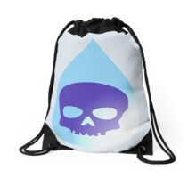 Skull in Water Droplet, by Chillee Wilson Drawstring Bag