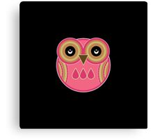 Pink Owl Canvas Print