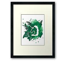 Military police - green splash Framed Print