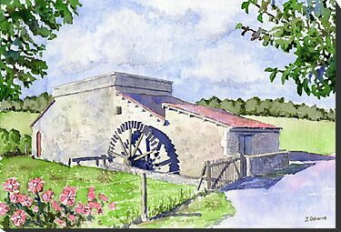 Watermill at Forgeneuve, France by ian osborne