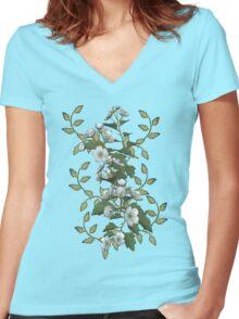 Spring Flowers Women's Fitted V-Neck T-Shirt