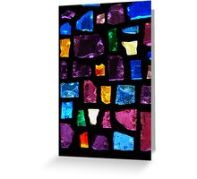 Stained Glass Windows Greeting Card