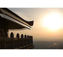 Pagoda at Sunset Photographic Print