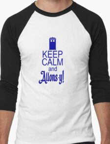 Keep calm and allons-y! Men's Baseball ¾ T-Shirt