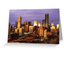 Melbourne at sunset, from Docklands Greeting Card