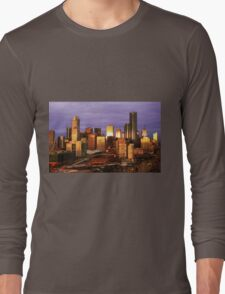 Melbourne at sunset, from Docklands Long Sleeve T-Shirt