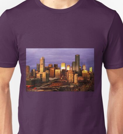 Melbourne at sunset, from Docklands Unisex T-Shirt
